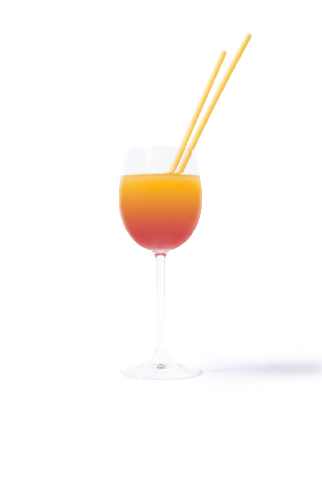 Cocktail sans paille plastique