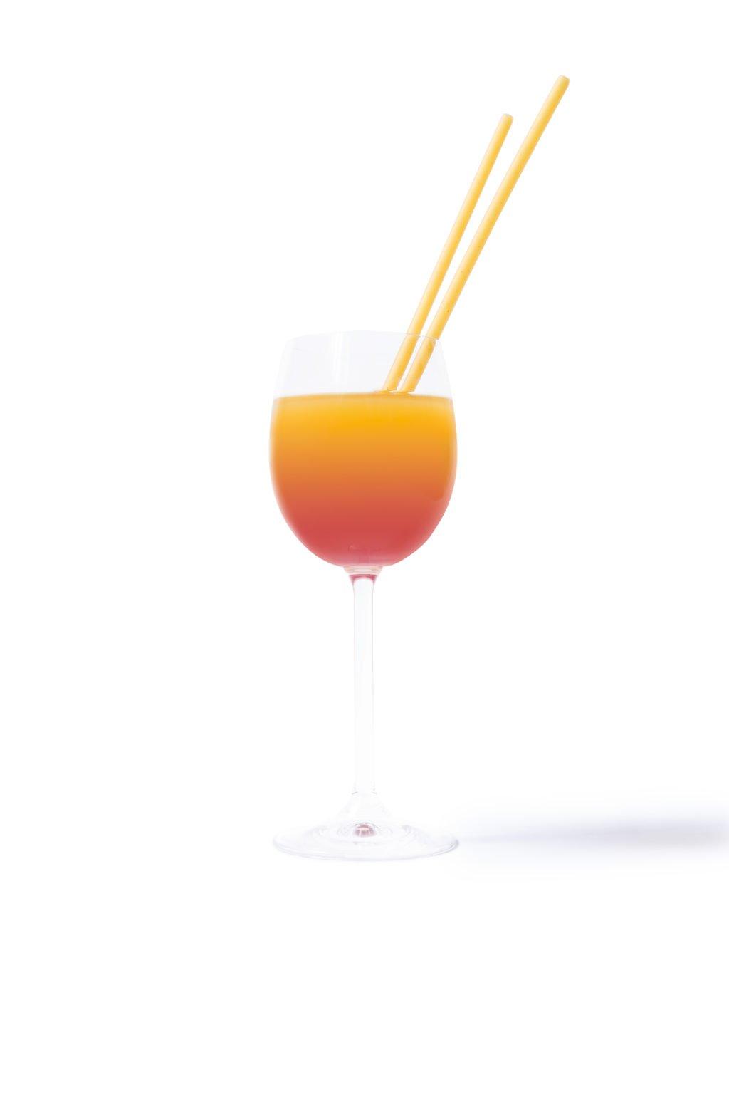 pasta straw cocktail